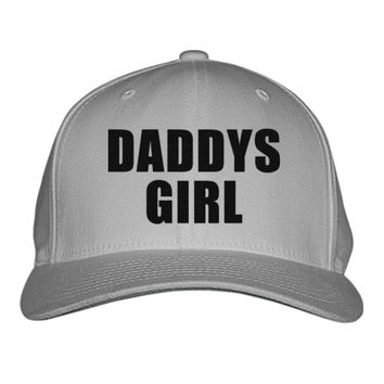 Daddys Girl Embroidered Baseball Cap