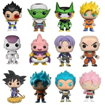 Dragon Ball Super Figures Son Goku Vegeta Buu Krillin Piccolo Torankusu Rose Blue Goku Red Super Saiyan PVC Model Toy Gift