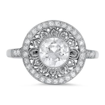 18K White Gold The Leeanne Ring