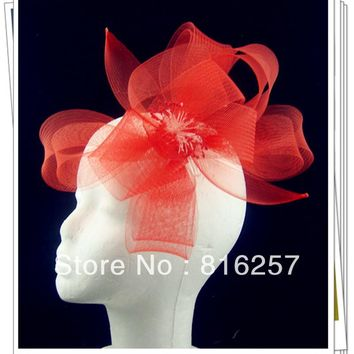 Free shipping multiple colors high quality fascinator hats headpiece nice bridal hair accessories party hats wedding hats FS105