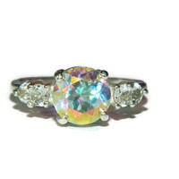 Mercury Mist Topaz Accent Ring, Five Stone Topaz Ring