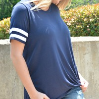 Lucky Break Top - Navy