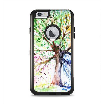 The WaterColor Vivid Tree Apple iPhone 6 Plus Otterbox Commuter Case Skin Set