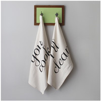 You Cook, I'll Clean Tea Towel Set - Made In The USA