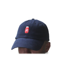 "PVT. ""Quarter Water"" - Dad Hat ""Red Navy"""