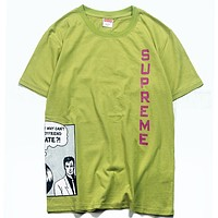 Supreme Woman Men Fashion Casual Sports Shirt Top Tee