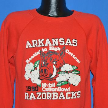 90s Arkansas Razorbacks 1990 Cotton Bowl Sweatshirt Medium