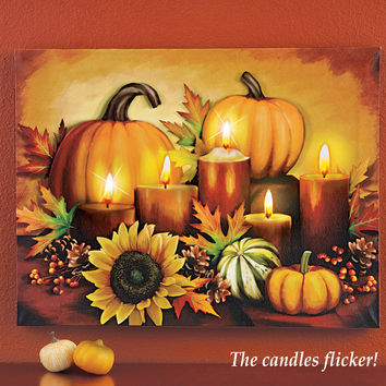 LED Autumn Harvest Canvas Wall Art