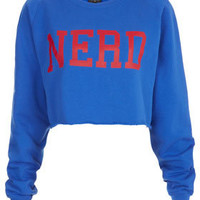 Nerd Crop Sweat - Sweatshirts & Hoodies - Jersey Tops  - Clothing