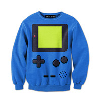 Handheld Blue Sweatshirt