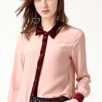 Button Down Silk Blouse