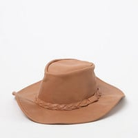 lack of color The Tan Leather Fedora Hat at PacSun.com