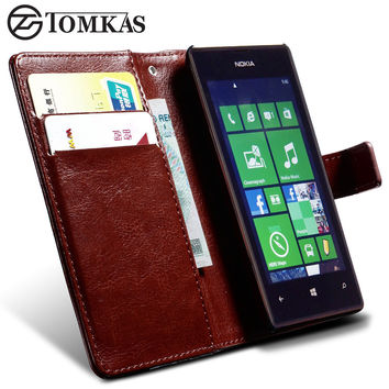 PU Leather Wallet Case For Nokia Lumia 520 Phone Luxury Stand Design Cover For Lumia 520 Cases with Card Slot
