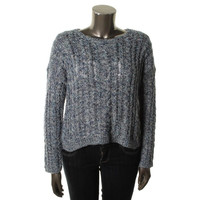 Denim & Supply Ralph Lauren Womens Cable Knit Scoop Neck Pullover Sweater