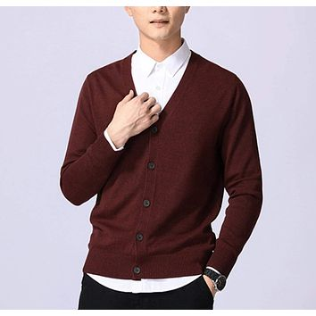Mens Everyday Button Down Knit Cardigan