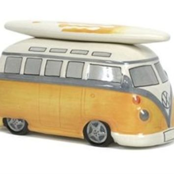 VW Surfer Van Coin Piggy Bank - Orange