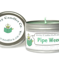 Pipe Weed Candle Scented Soy Candles UK 8oz. Lord of the Rings Candle. Soy Candle UK. Soy Candles, Tin Candles. Tin Candle, UK Candles