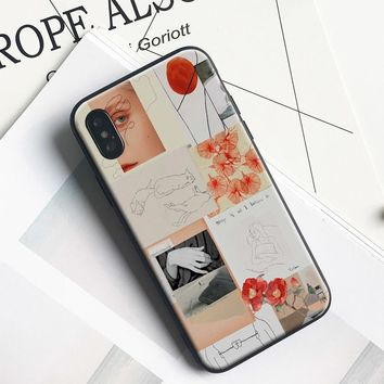 Teen ins style fashion collage coque TPU soft silicone Phone Case cover Shell For Apple iPhone 5 5s Se 6 6s 7 8 Plus X XR XS MAX