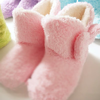 Japanese Kawaii Pastel Color Slippers Shoe with Bow (4 colors to choose)