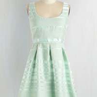 Pastel Mid-length Sleeveless Fit & Flare Crown Julep Dress