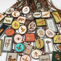 Custom Laser Etched Wooden Pendant Necklace - Choose Your Color, Setting, and Design