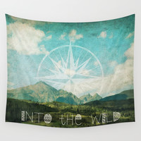 Into the Wild Wall Tapestry by Jenndalyn