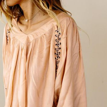 Caroline Lace-up Blouse