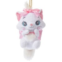 Marie Cat Plush Keychain Badge Lovely ❤ Disney Store Japan The Aristocats