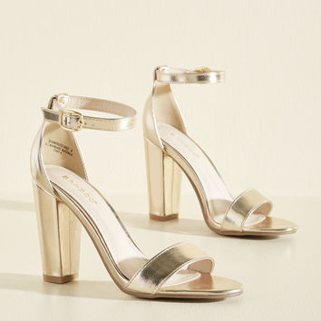 Posh the Competition Metallic Heel | Mod Retro Vintage Heels | ModCloth.com