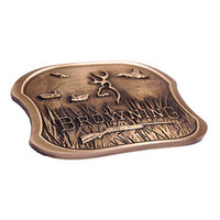 Browning Brass Duck Belt Buckle