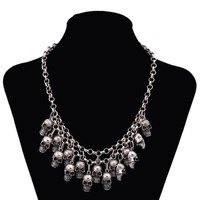 Punk Multi-layer Skull Necklace Gothic Jewelry