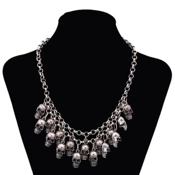 Punk Multi-layer Skull Gothic Jewelry Statement Necklace