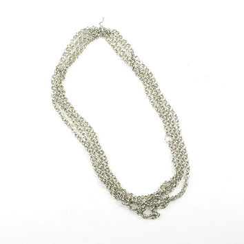 Fancy Round Link Chain, Imitation Rhodium, 54""