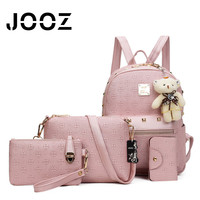JOOZ Brand Luxury Women Handbag 4 Pcs Composite Bags Set Female Messenger Crossbody Shoulder Bag Lady Coin Purse Wallet Clutch