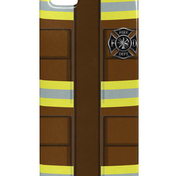 Firefighter Brown AOP iphone 5 & 5S Plastic Case All Over Print