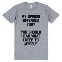 My Opinion Offended You-Unisex Athletic Grey T-Shirt