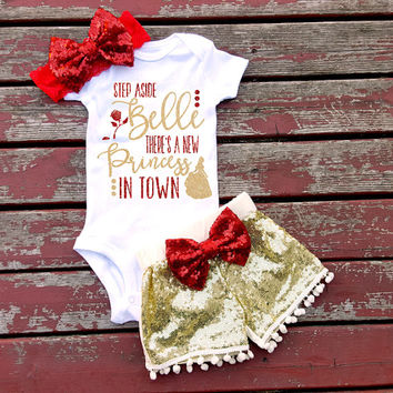 8a675863a Baby Girl Clothes I Found My Prince His from ShopVivaLaGlitter on
