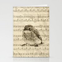 Songs of Birds Stationery Cards by Nirvana.K