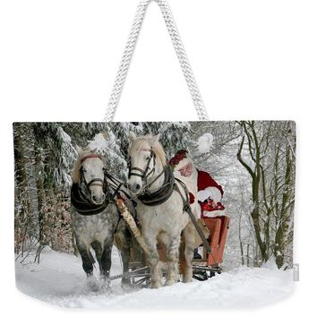 Santa Sleigh With Horses - Weekender Tote Bag