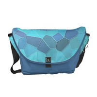 Stained glass with 3D effect relief Messenger Bag