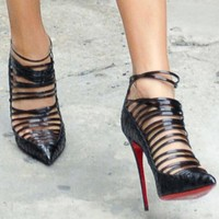 Hollow Pointed Toe Fashion Women Stiletto High Heels Shoes