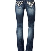 Miss Me Animal Print Pocket Applique Bootcut Jeans - Sheplers