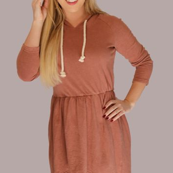 Nikki Terry Hooded Dress - Rose Rock by POL Clothing
