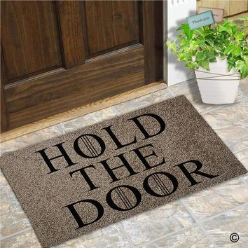 Autumn Fall welcome door mat doormat Entrance  - Funny and Creative  - Hold The Door  for Indoor Outdoor Use  Top AT_76_7