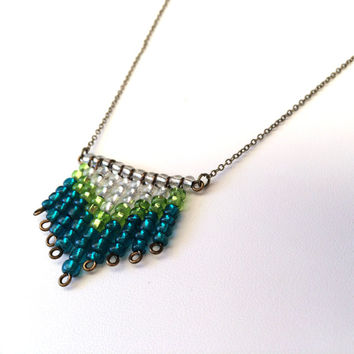 Chevron Necklace Beaded