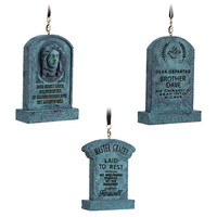 disney parks holiday ornament set the haunted mansion tombstones new with box