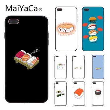 MaiYaCa Cute Japanese sushi Kawai Food Hard Luxury Unique Design Phone Cover For Apple iphone 5 5s 5c SE And 6s 7 8 Phone case