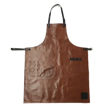 WS ALEX LEATHER APRON, COPPER