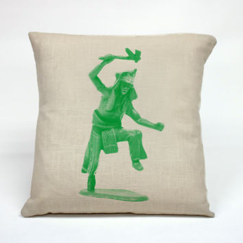 """Graphic Pillow Handcrafted Toy Indian size 16 x 16"""" Without Insert"""