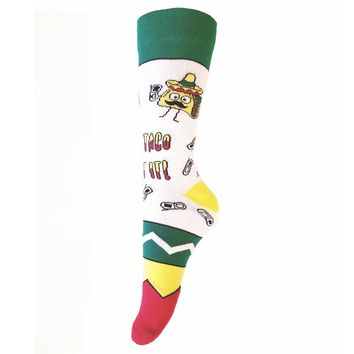 Let's Taco Bout It Men's Crew Length Socks